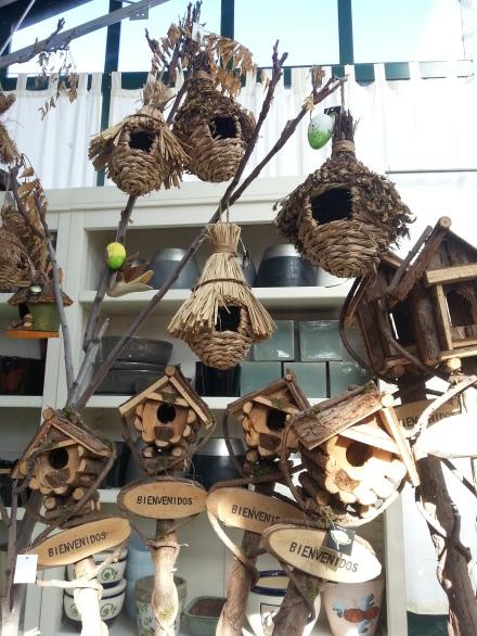 Decoración casetas pájaros